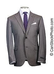 形式的, スーツ, 中に, ファッション, 概念