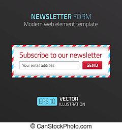 形態, 現代, デザイン, テンプレート, newsletter, エアメール