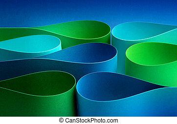 形態, 色, 低下, 波, 弧, 涼しい