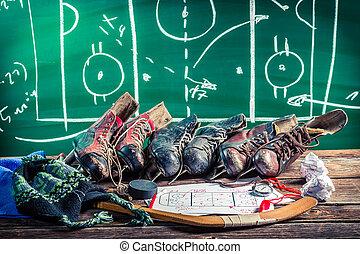 形成, 策略, 在, 冰球, 比賽