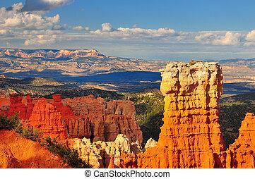 形成, hoodoo, bryce, canyon., 岩