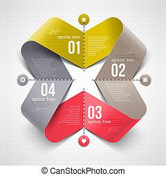 形状, 带, infographics, 元素