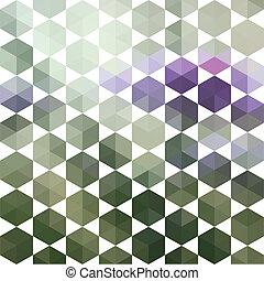 形狀, 圖案, 幾何學, 六角形, retro