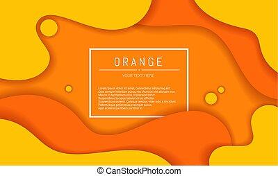 形狀, 橙, 矢量, 動態, 背景。