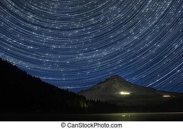 形跡, 在上方, 星, 坐騎頭巾