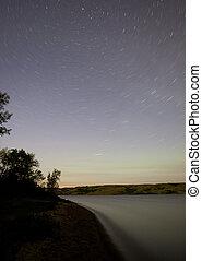 形迹, 星, 湖, 北方