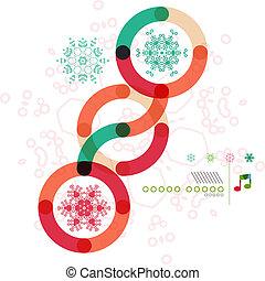 形, デザイン, 幾何学的, 最小である, クリスマス