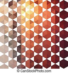 形, パターン, 幾何学的, レトロ