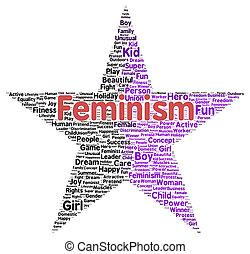 形, 単語, フェミニズム, 雲