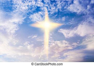 形, 宗教, シンボル, heavenly, 交差点