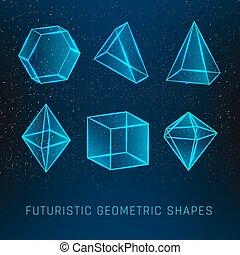 形, 幾何学的, セット