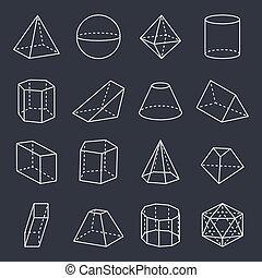 形, 幾何学的, ベクトル, コレクション, イラスト