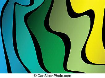 形, 抽象的, カラフルである