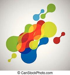 形, 抽象的, ベクトル, カラフルである