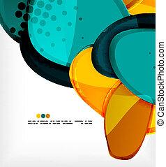 形, 抽象的, ベクトル, ラウンド, 背景