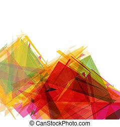 形, 抽象的, 幾何学的, 背景