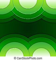 形, 抽象的, 緑, ラウンド, 背景