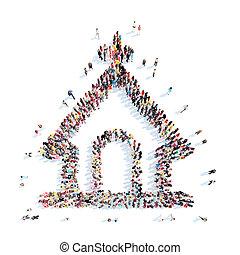 形, 教会, 人々