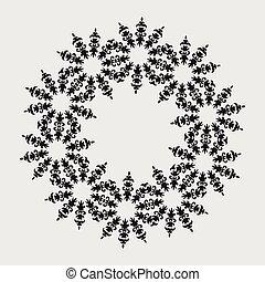 形, 花, logotype
