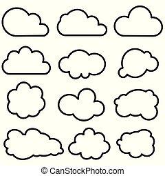 形, 雲, コレクション