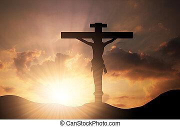 形, 雲, 交差点, 崇拝, キリスト, イエス・キリスト, resurrection., 背景, シンボル, 信頼, 神, 上に, 木, 概念, ∥あるいは∥, 日没, 信念, 宗教, 空, 精神, キリスト教, 宗教, 神聖