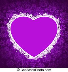 形, 8, フレーム, heart., eps