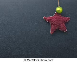形, chlakboard, 星, クリスマス, 背景