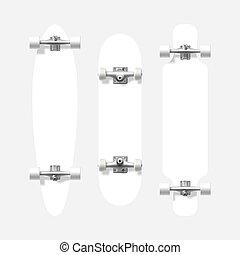 形, longboard, スケートボード, ブランク