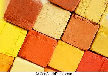 彩色蜡筆, 粉筆, 藝術,  -, 創造性, 明亮, 人物面部影像逼真, 背景