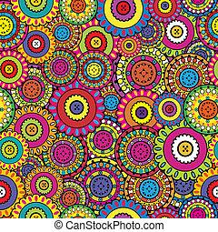 彩色, seamless, 装饰品, 东方, 背景, 几何学