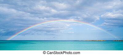 彩虹, 在上方, 海洋