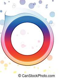彩虹, 環繞, 邊框, swirls., 閃耀