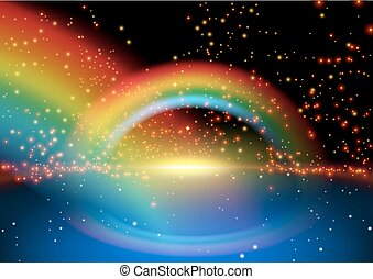 彩虹, 發光