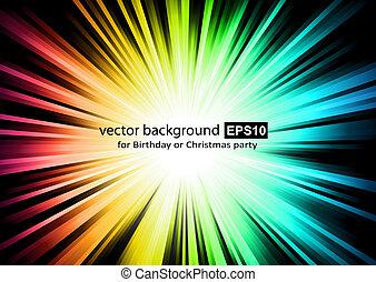 彩虹, 閃閃發光, colurs, 光
