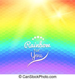 彩虹, 鮮艷, 背景, 波浪