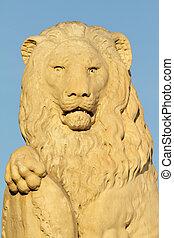 彫刻, ライオン, 大理石