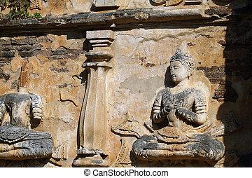 彫刻, 古代, 仏, 2