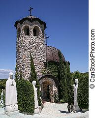 彫刻, 教会, 空, 下に, 小さい, すてきである