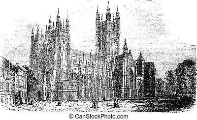 彫版, イギリス\, canterbury, 型, 大聖堂, ケント
