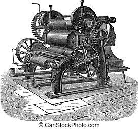 彫版, シリンダー, 型, 3, 機械, ペーパー