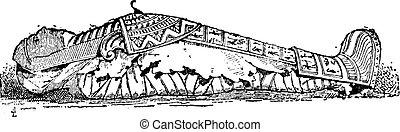 彫版, ミイラ, 石棺, 型