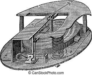 彫版, 型, アネロイド気圧計, バロメーター
