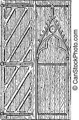 彫版, 型, ドア, sainte - chapelle