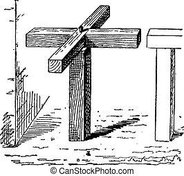 彫版, 型, 回転式木戸