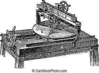 彫版, 型, 機械