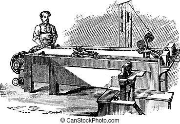 彫版, 機械, spinneret, 型