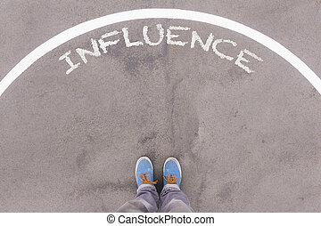 影響, 正文, 上, 瀝青, 地面, 英尺, 以及, 鞋子, 上, 地板