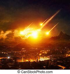 影響, 端, 日, 小惑星, 判断, 世界