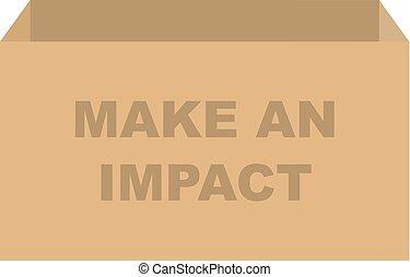 影響, 箱, 作りなさい, ベクトル, 寄付