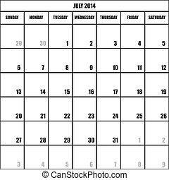 影響, 2014, カレンダー, 立案者, 7月